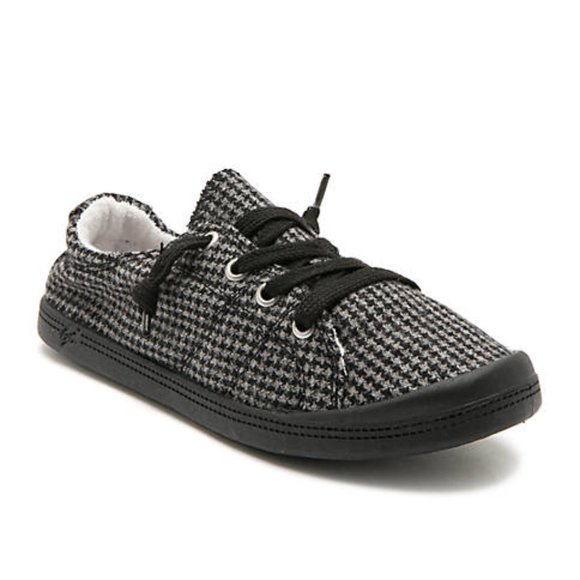 Sz 75m Soft Canvas Sneakers Houndstooth